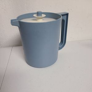 Blue Tupperware pitcher